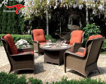 Patio Conversation Set with Fire Pit Table Cheap Round Dining Table Sets