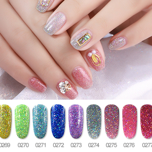 Best Selling Unique Design Glitter Varnish Special Color Neon Gel Polish UV Gel Polish Made In DZ
