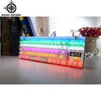 Led backlight mini mechanical usb keyboard gaming with waterproof design