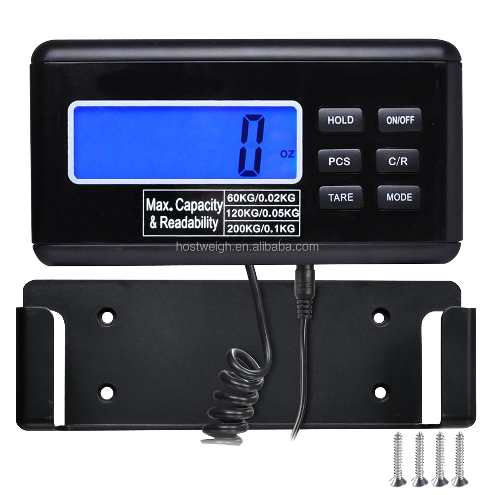 Black LCD Backlit Digital Warehouse Shipping Scale Postal Scale stainless steel with Adapter 300kg/100g