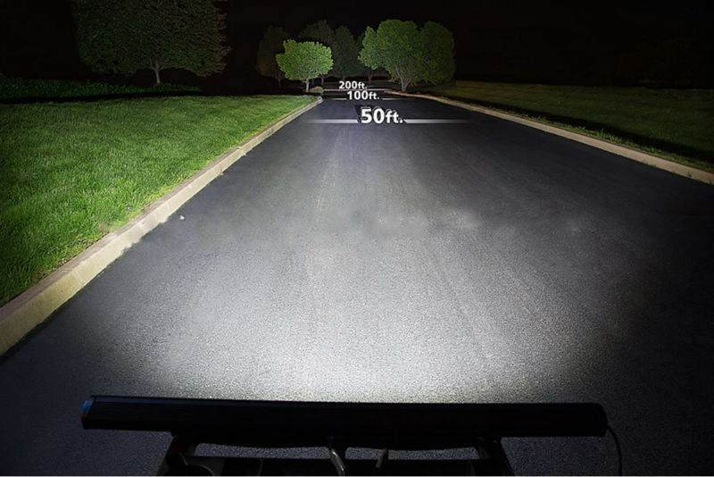 Dual Row 288w Cree 4x4 Straight Offroad 50 Inch Led Light