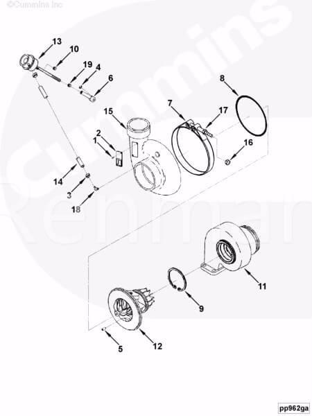 3768002 3774231 4309100 3774202 Cummins Foton Isf2 8s5 Engine Turbo