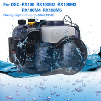 Mcoplus Newest Quality Underwater Housing for Sony DSC-RX100 RX100M2 RX100M3 RX100M4 RX100M5 Waterproof Camera Case