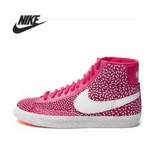 Original Nike WMNS BLAZER MID PRINT women's Skateboarding Shoes 536698-603 High-top sneakers free shipping