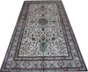 BEIGE COLOR Handmade wool silk Afghan Chobi Rug silk Turkish Carpet from china factory