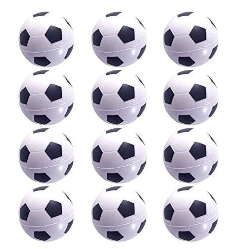 Mini Sports Balls for Kids - Soccer Ball, Basketball, Baseball, Tennis Ball Set of 12 (12 Pack (Soccer balls)