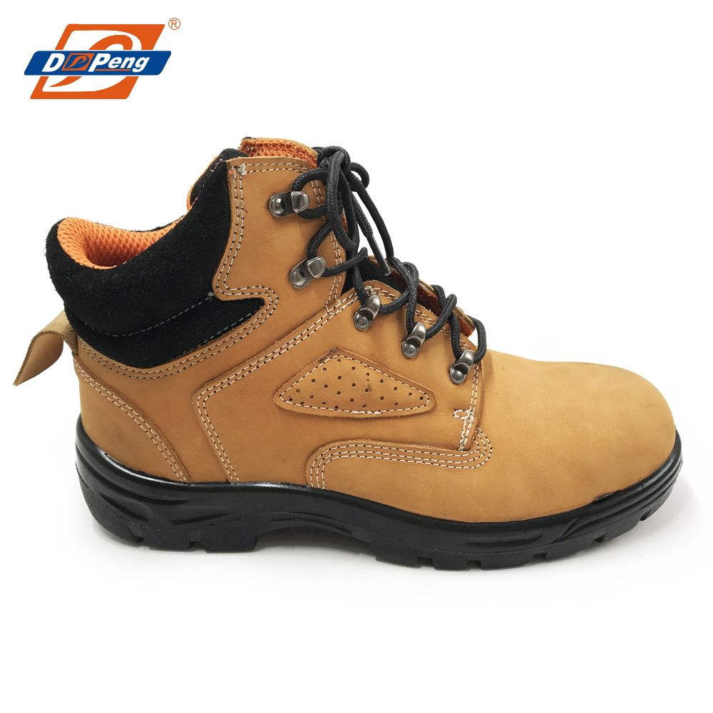 Camel Sexy Leather Steel Toe Industrial