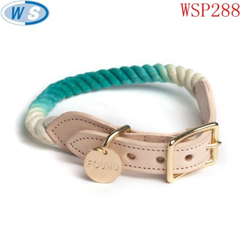 Modern design pet products dog supplies collar with certificate