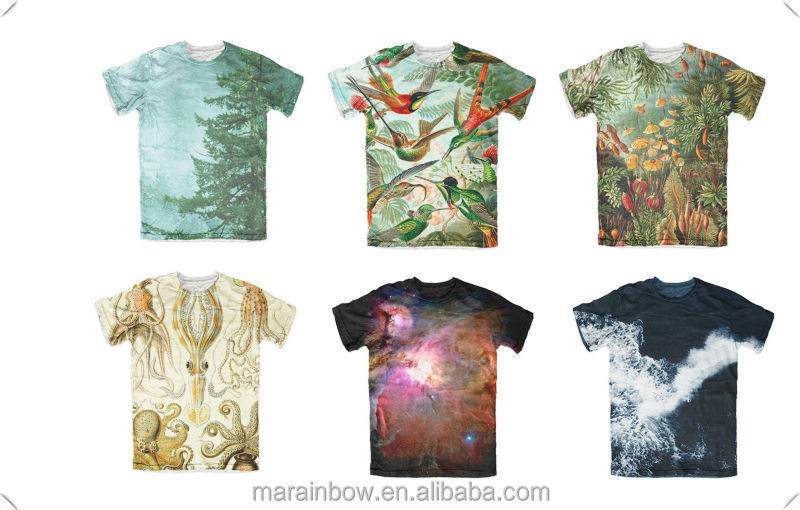 tie dye sublimation t-shirt, Best selling stylish high quality all-over full body sublimation printing t-shirt wholesale