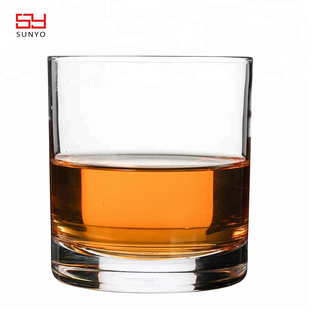 personalised handmade crystal whisky glass cup with thick base