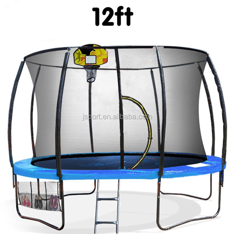 NEW 12ft bungee jumping Basketball Set Safety Net Spring Pad trampoline