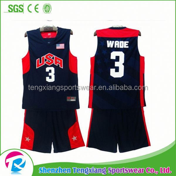 2017 New Arrival Custom Reversible Basketball Uniform Design Template