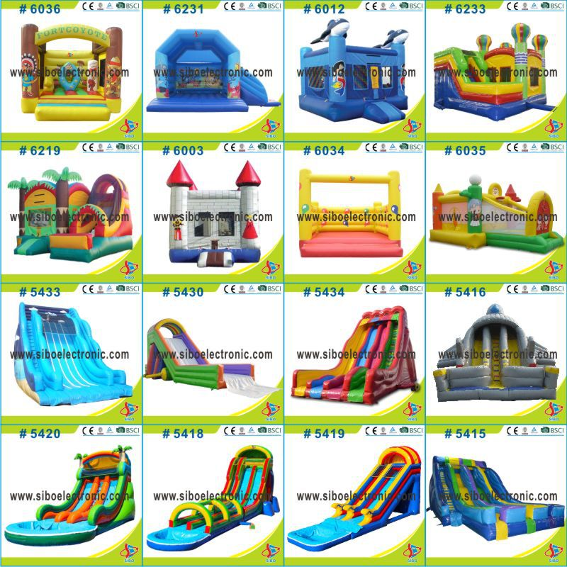 GMIF SiBo Durable Kids Inflatable Water Slides With Pool For Entertainment