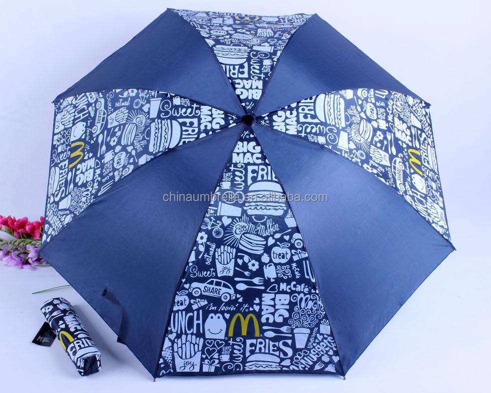 Mcdonalds Regenschirm 3-fach Werbung Sonnenschirm Regenschirm - Buy ...
