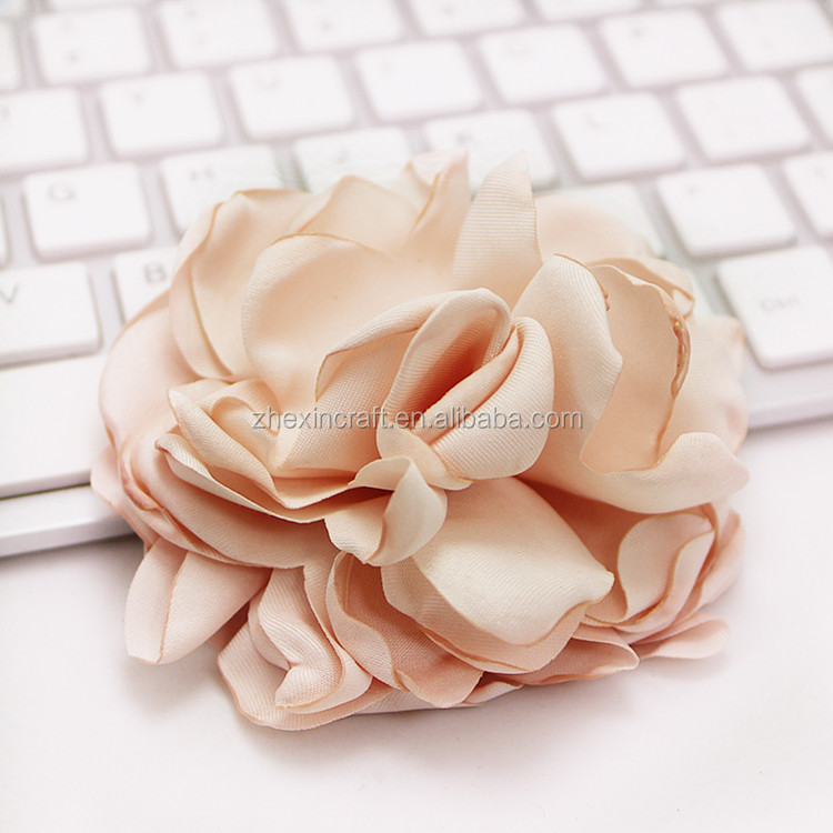 satin fabric flower brooch purple,costume flower corsage,fabric flower for hair dress