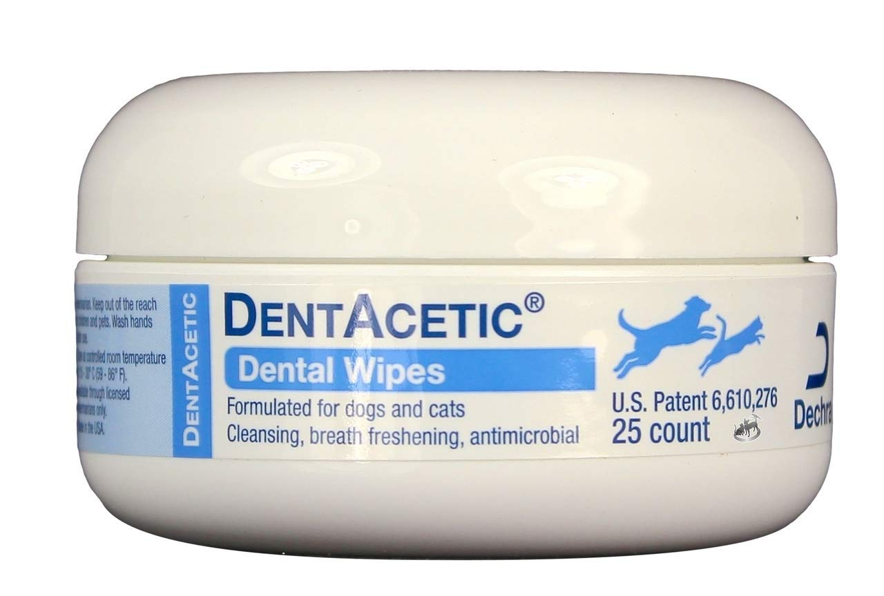 Dechra Veterinary Products DentAcetic Dental Wipes (25 Count)