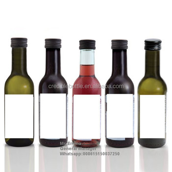 Wholesale empty 187ml red wine bottles buy 187ml wine for Red glass wine bottles suppliers