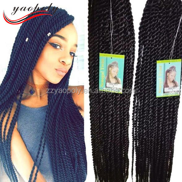 Factory price Black African Torsional Synthetic Hand tied senegal twist braid