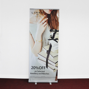 China Factory Indoor Outdoor Advertising Double Sided Display Roll Up Pull Up Banner Stand