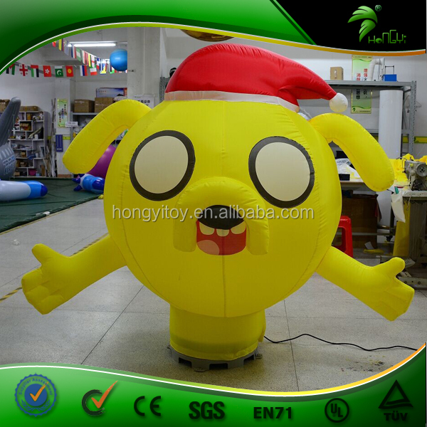 Newly Design Dog Inflatable Air Dancer For Holiday Event / Customize Inflatable Yellow Dog With Blower
