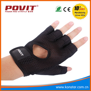 designer cotton knit long fingerless riding gloves
