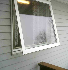 Hot sale Good Insulation PVC UPVC Awning Window With Grills