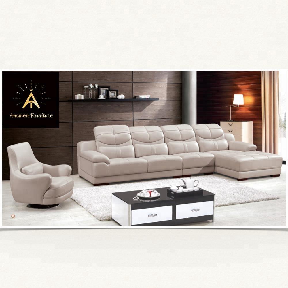 High quality modern italy genuine or rexine leather pu living room sofa foshan bka182
