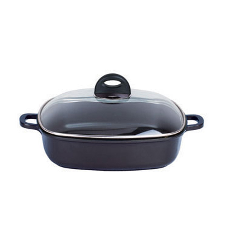 high quality nonstick square kitchenware and cookware for gas cooker