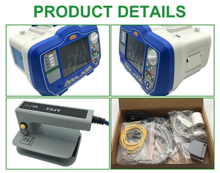 IN-C026 Portable Medical  External AED ICU  Defibrillator Monitor With ECG Spo2