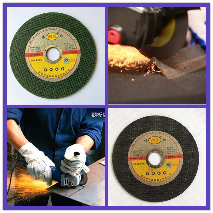 4'' flat disk resin wheels for cutting metal stainless steel professional manufacturer