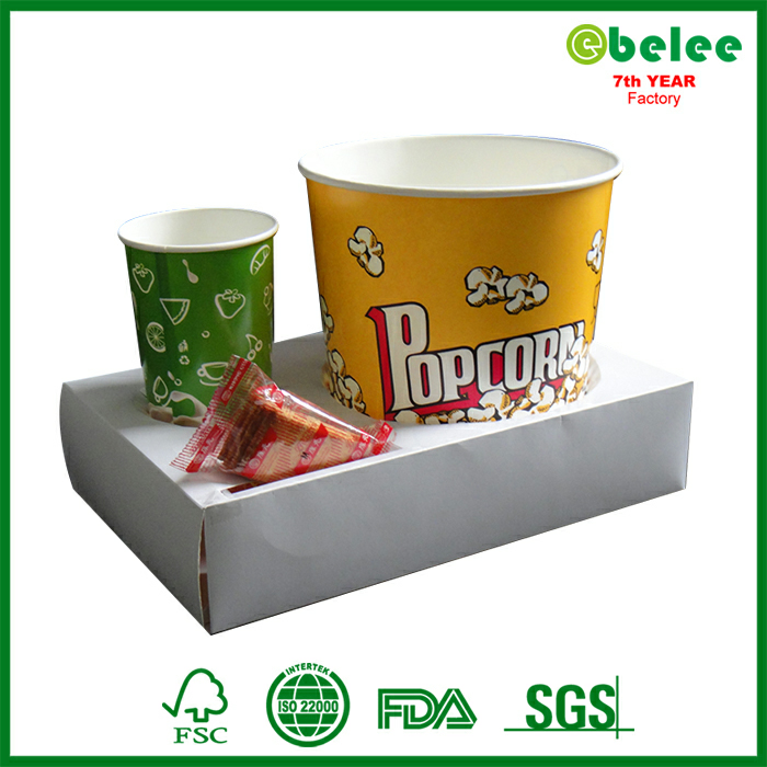 Recycle Paper Cardboard Popcorn And Drink Holder Buy