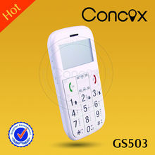 Concox familiares números Big button telefone móvel GS503