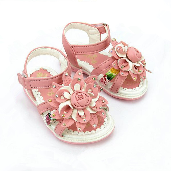 Flower Sandalias 2015 Summer New Rhinestone Girls Sandals Kids Children Shoes Girls Fashion sandals Casual girls shoes