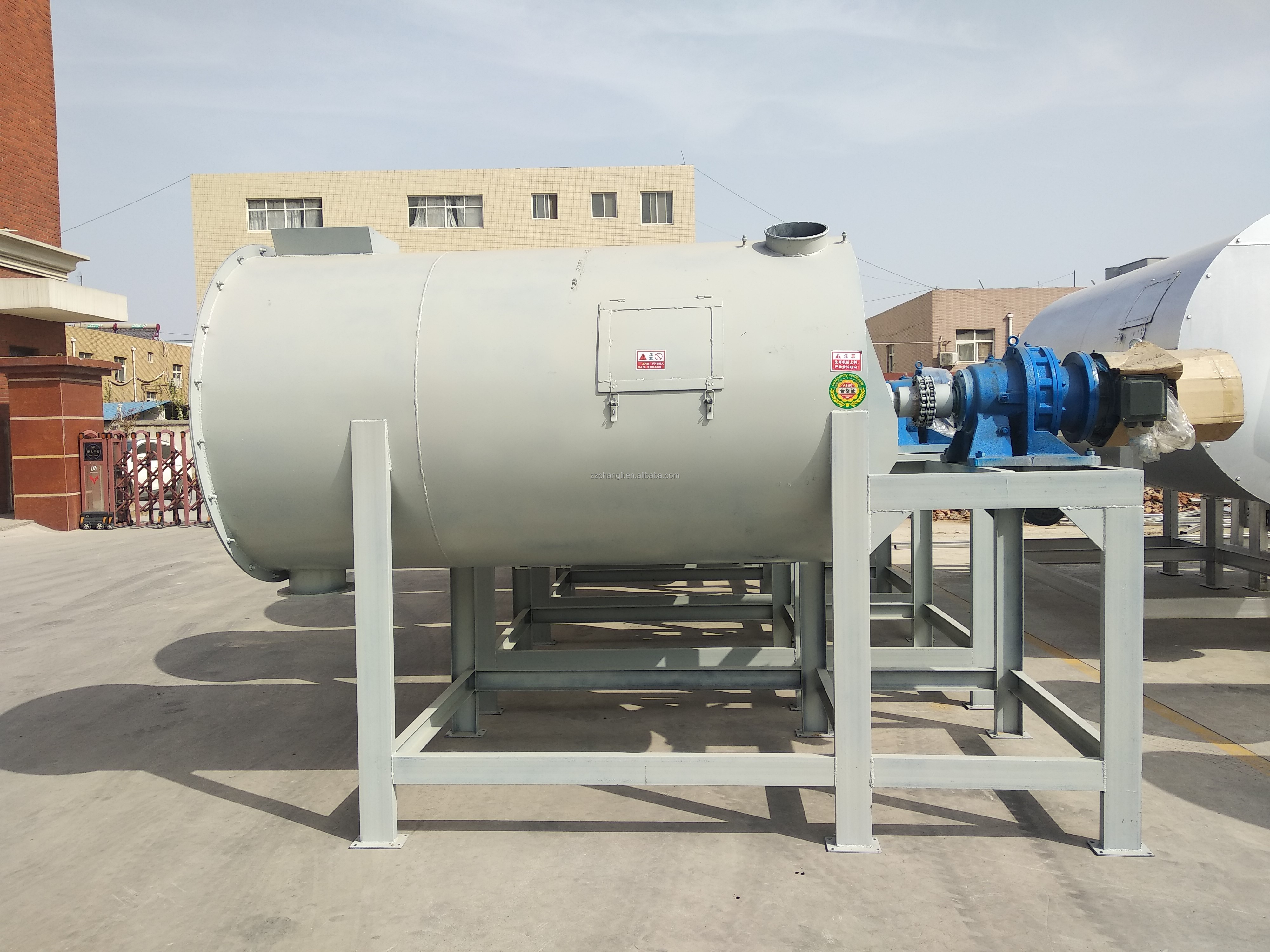 Low cost high efficiency dry mortar mixing production machine