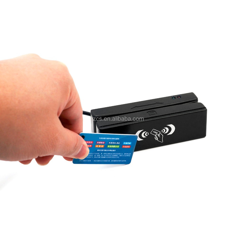 ZCS100-RF Cheap USB Portable Combo Magnetic Stripe + RFID Card Reader / Skimmer with free