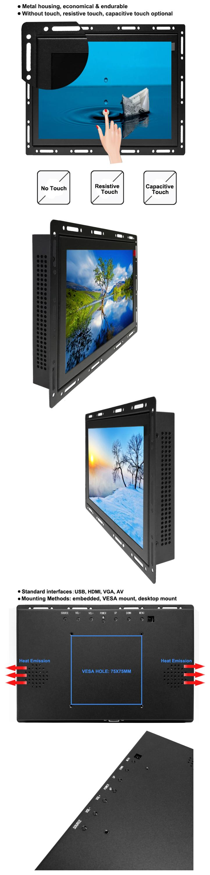 Open Frame 11.6 polegada FHD 1920*1080 p touch screen tft lcd monitor