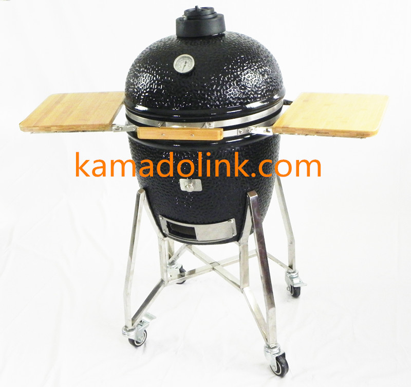 21'' Best Outdoor Charcoal Ceramic BBQ Kamado Smokeless Charcoal Grill Kitchen Smoker Grill
