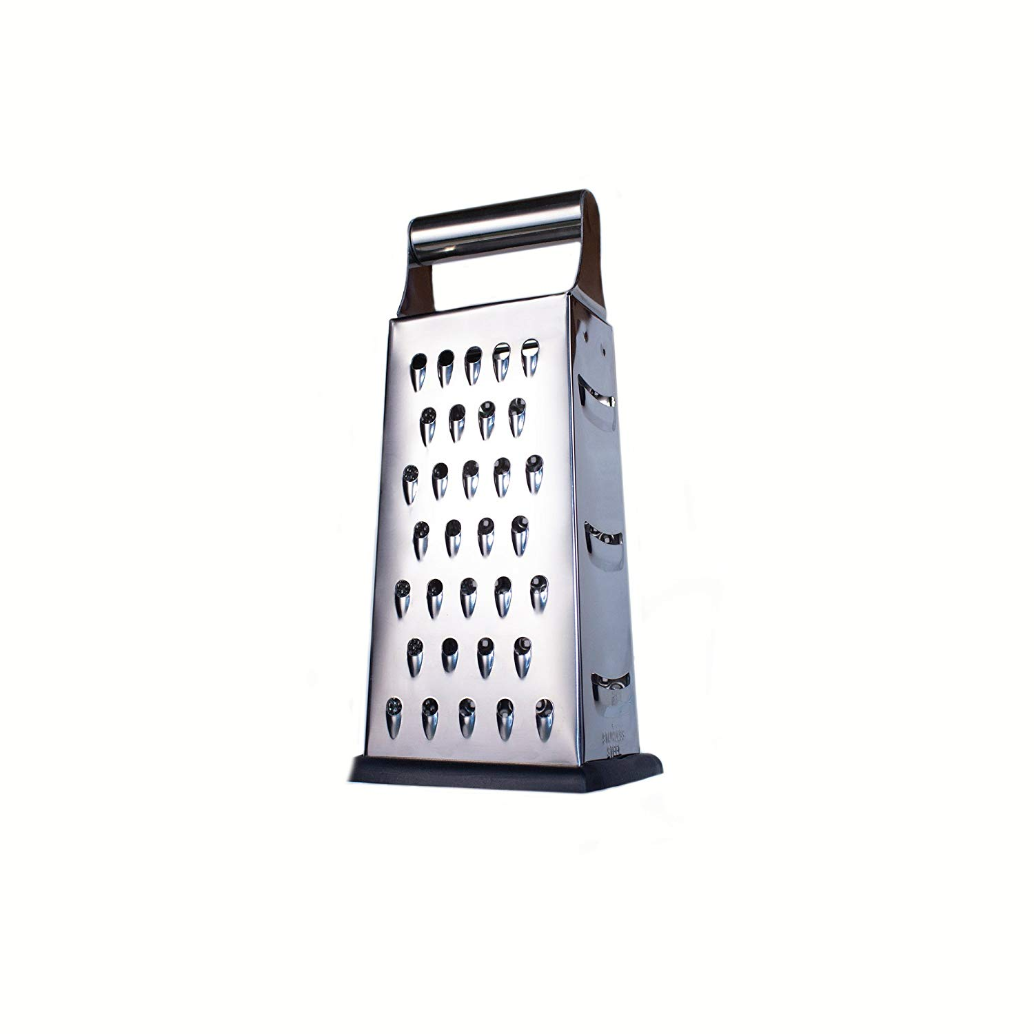 Large Handheld Cheese Grater /& Cheese Catcher Set 4 Sided Stainless Steel Classic Box Style With Nonslip Handle Size Large For Multi-Use Ginger Parmesan Cheese Vegetables 9.5 Inches