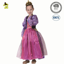 A girl princess dress Purple party fancy dress for children kids princess dress