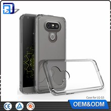 New Product 2016 Clear Ultra Slim Acrylic + TPU Bumper 2 in 1 Back Cover Case For LG G5 H830 Mobile Phone Accessories