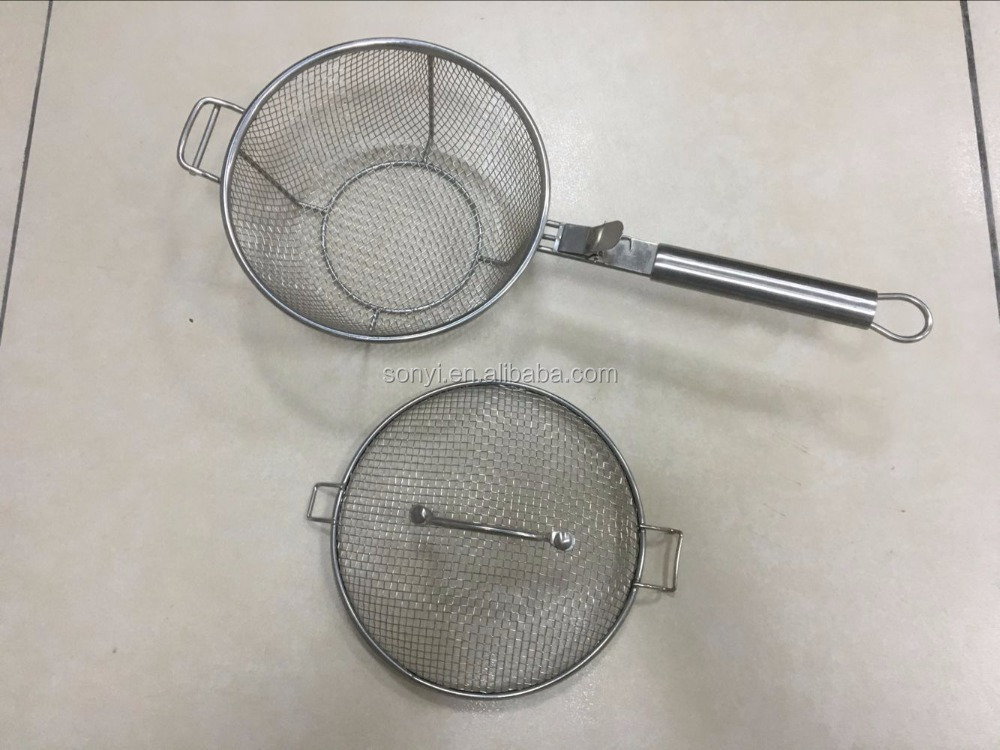 Stainless steel wire food grade vegetable BBQ Grill top basket round and square