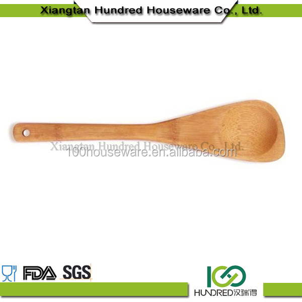 Promotional disposable wooden bamboo holder noodle spoon ice cream spoon