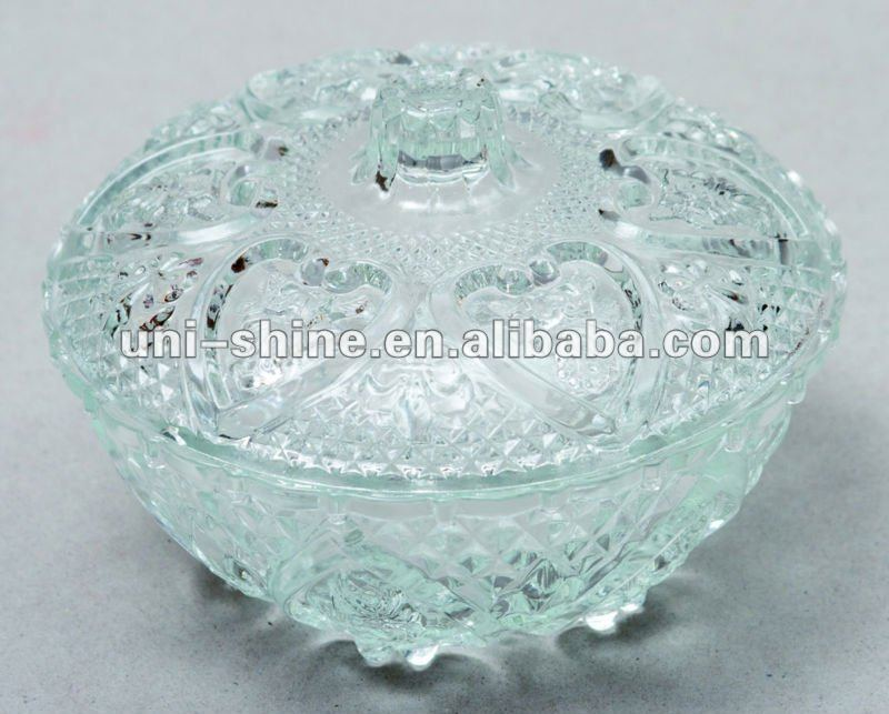 Clear Glass Candy Dish Antiques Decorative Arts