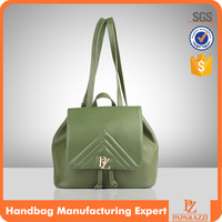 6569 Green backpack wholesale fashion woman purse faux leather quilted bag