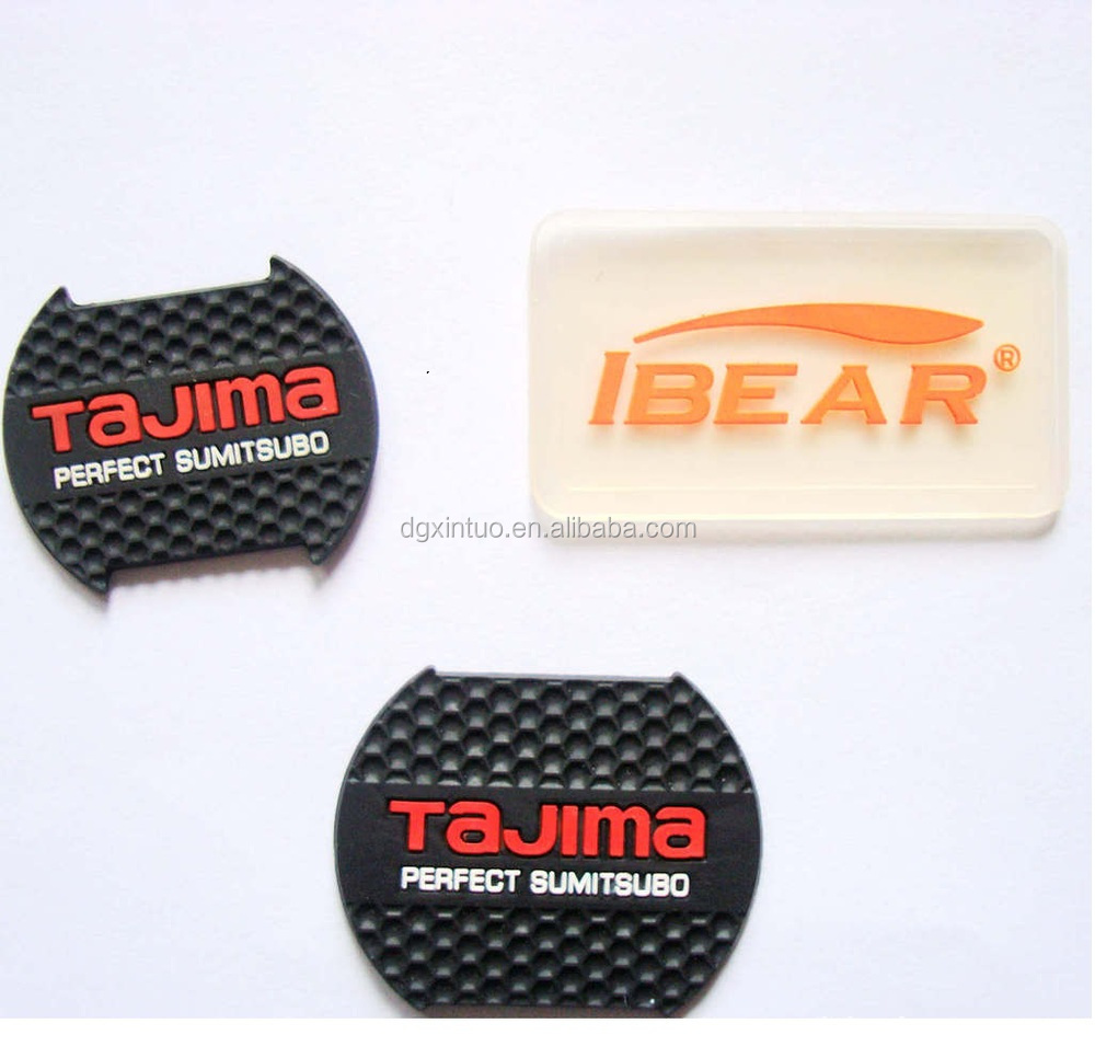 Embossed brand logo transparent 3D silicone rubber label