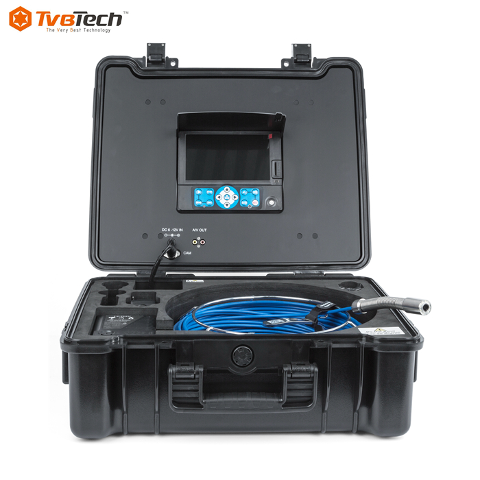 Erchang Pipe Pipeline Inspection Camera Industrial Endoscope Drain Sewer Camera 7 Inch LCD Monitor 1000TVL Sony CCD Borescope Waterproof IP68 20M//30M//40M Cable Distance Counter with DVR Recorder