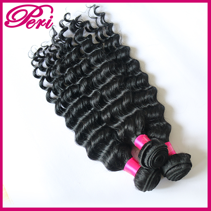 "Rosa hair products Top Grade 6A Brazilian virgin hair 8""-28"" 1pc/lot Brazilian deep wave human hair extensions"
