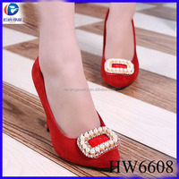 The jewelry pearl with rhinestone buckle for shoe removable clips