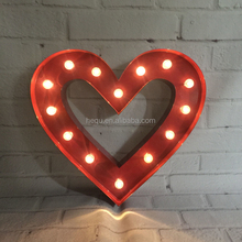 Hanging free standing marquee light led lighting latest wall decoration heart shape wedding decor