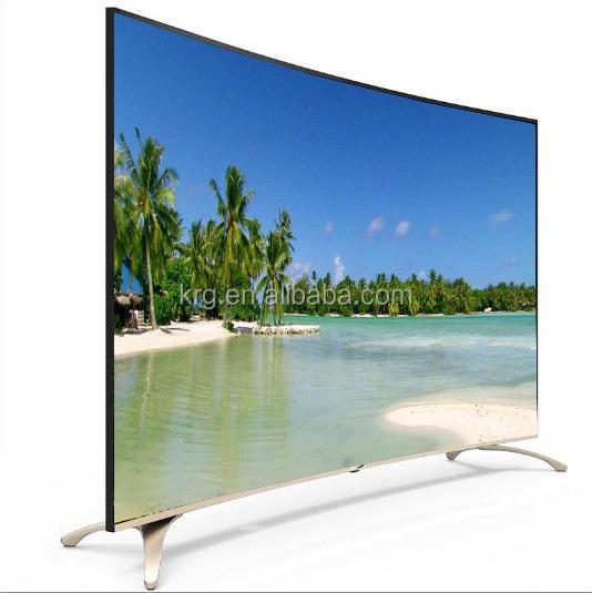 स्लिम और सुपर सौदा 75 इंच uhd 4K 3d एलईडी स्मार्ट टीवी फैक्टरी थोक घुमावदार शैली